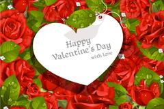 Link toRoses love tag vector
