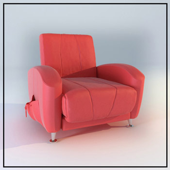Rosy individual single sofa model 3d model