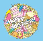 Link toRound birthday cards vector