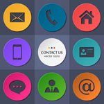 Link toRound contacts icon vector