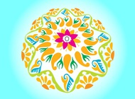 Link toRound floral layout vector free