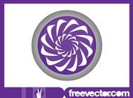 Link toRound floral logo vector free
