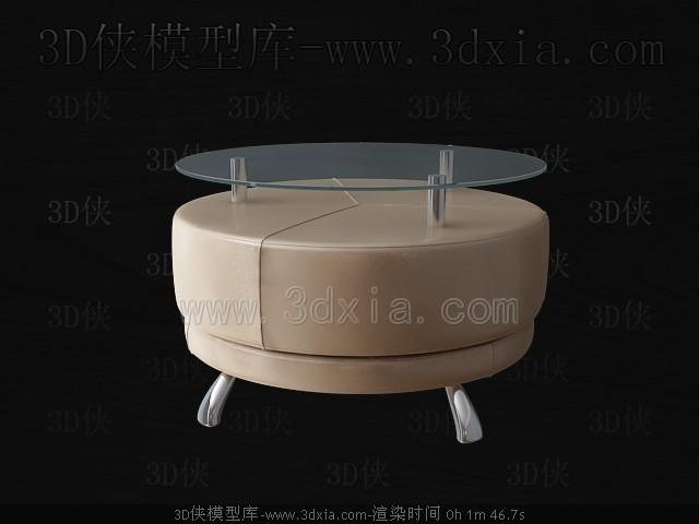 Link toRound glass tea table 3d model
