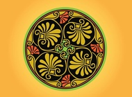 Link toRound greek ornament vector free