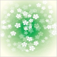 Link toRound green flower vector graphic