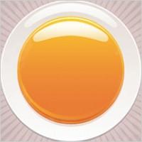 Link toRound orange crystal material