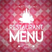 Link toRound pattern background with restaurant menu vector 01 free