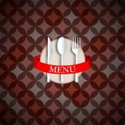 Link toRound pattern background with restaurant menu vector 02 free