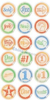 Link toRound retro stickers vector design