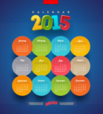 Link toRound stickers calendars vector