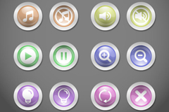 Link toRound textured buttons icon vector