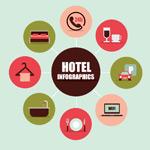 Link toRound the hotel icon vector