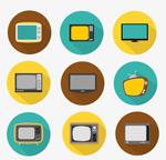 Link toRound tv icon vector