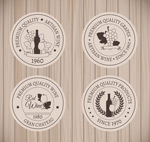 Link toRound wine labels vector