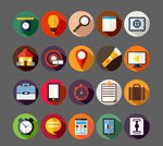 Link toRounded business icons vector