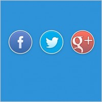 Link toRounded social buttons