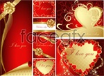 Link toRoyal love greeting cards vector