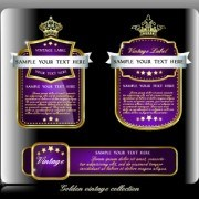 Link toRoyal luxury labels vector graphics 02
