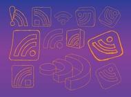 Link toRss feed logo graphics vector free