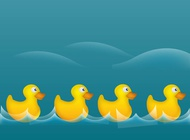 Link toRubber ducks illustration vector free