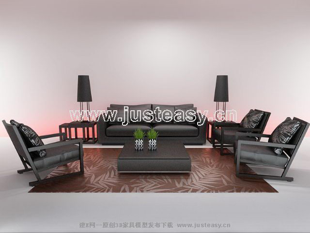 Link toRui chi brand leisure chair 3d model portfolio (including materials)