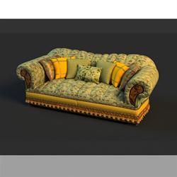 Link toRussian style multiplayer cloth art sofa 3d models