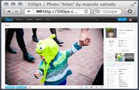 Link toSafari browser chrome psd