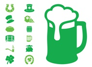 Link toSaint patrick's icon set vector free
