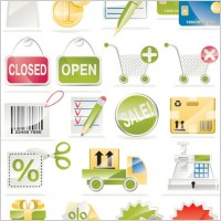 Link toSale of a shopping icon vector