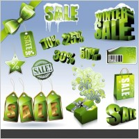 Link toSales discount green icon vector
