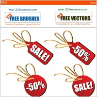 Link toSales tags free vector