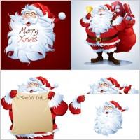 Link toSanta claus cartoon picture vector