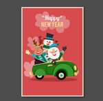 Link toSanta claus greeting cards vector