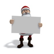 Link toSanta claus holding a sign pictures