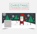 Santa face book cover vector