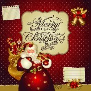 Link toSanta golden glow christmas cards vector 01