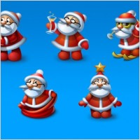 Link toSanta icons set icons pack