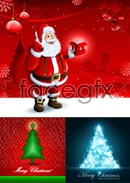 Link toSanta new year backgrounds vector
