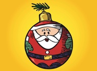 Link toSanta ornament vector free