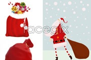Link toSanta with gift bag vector