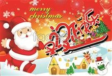Link toSanta with snowman psd