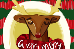 Link toScarf christmas reindeer vector