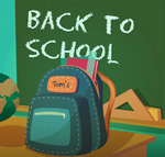 School bag illustration vector