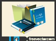 School books layout vector free