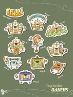 Link toSchool cartoon icons