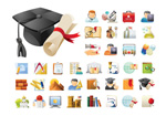 Link toSchool icons vector