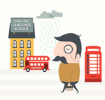 Link toSchool of english illustrator vector