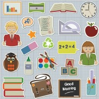 Link toSchool students theme icon vector