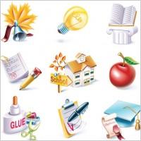 Link toSchool theme icon vector