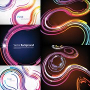Link toScience and technology abstract background design elements vector